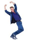 Męski tancerz w nowożytnym błękitnym kostiumu Obraz Stock