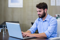 Męski terapeuta używa laptop Obraz Stock