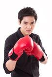 Męski wojownik, mężczyzna bokser Zdjęcia Royalty Free