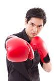 Męski wojownik, mężczyzna boksera uderzać pięścią Obraz Stock
