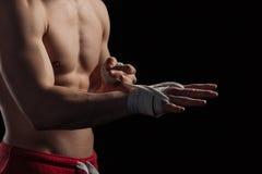 Męskie boksera narządzania ręki dla walki Zdjęcie Stock