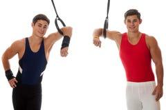 Męskie gimnastyczki Obraz Royalty Free