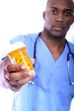 męskie pielęgniarek pigułki Zdjęcie Royalty Free