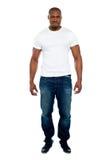Męskiego afrykańskiego mężczyzna Długi portret Zdjęcia Stock