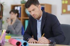 Męskiego pracownika rysunkowy pojęcie Obrazy Stock