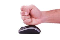 męskiej mężczyzna myszy target2121_0_ biel Zdjęcia Stock