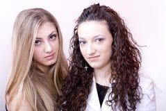 młodą dwie kobiety. Obraz Stock