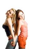 młodą dwie kobiety. Obrazy Royalty Free