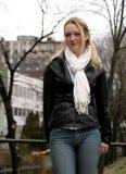 młodą kobietą obrazy stock