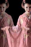 Młoda ładna kobieta jest ubranym kimono obrazy royalty free