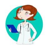Młoda ładna kobiety lekarka royalty ilustracja