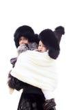 Młoda śliczna matka z dzieckiem w temblaku Fotografia Royalty Free