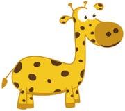 Młoda żyrafa ono uśmiecha się w profilu i ilustracja wektor