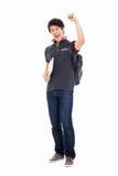 Młoda Azjatycka stdudent pokazuje pięść Obraz Royalty Free