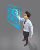Młoda biznesowego mężczyzna use technologia w przyszłości Zdjęcie Stock