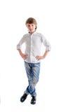 Młoda chłopiec jako biznesowy mężczyzna fotografia royalty free