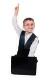 Młoda chłopiec pracuje z laptopem Zdjęcie Royalty Free