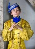 Młoda chłopiec ubierająca jako książe Zdjęcia Royalty Free