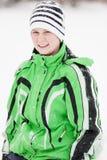 Młoda chłopiec w modnej zimy odzieży Zdjęcie Stock