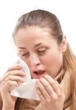 Młoda chora kobieta Fotografia Stock