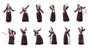Młoda dama tanczy tradycyjnego azerijskiego tana fotografia royalty free