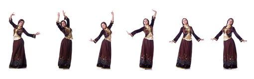Młoda dama tanczy tradycyjnego azerijskiego tana obraz royalty free
