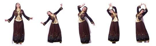 Młoda dama tanczy tradycyjnego azerijskiego tana zdjęcie royalty free