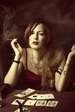 Młoda dorosła kobieta moda portret zdjęcia royalty free