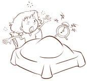 Młoda dziewczyna budzi się up Obraz Royalty Free