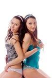 Młoda dziewczyna dwa przyjaciela zdjęcie stock