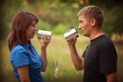 Młoda dziewczyna i mężczyzna obrazy stock
