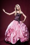 Młoda dziewczyna lubi Barbie lalę Zdjęcie Stock
