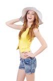 Młoda dziewczyna w mod pojęciach Zdjęcie Royalty Free