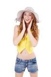 Młoda dziewczyna w mod pojęciach Obraz Stock