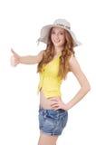 Młoda dziewczyna w mod pojęciach Fotografia Stock