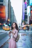 Młoda dziewczyna w Nowy Jork zdjęcia royalty free