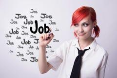 Młoda dziewczyna w poszukiwaniu pracy obraz stock