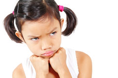 Gniewna dziewczyna Obrazy Royalty Free