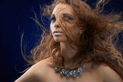 Młoda dziewczyna z intresting makijażem Fotografia Royalty Free