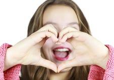 Młoda Dziewczyna z Szyldowym językiem zdjęcie stock