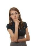 młoda elegancka myśląca kobieta Fotografia Stock
