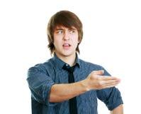Gniewny samiec wskazywać Zdjęcie Royalty Free