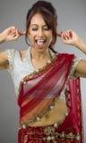 Młoda Indiańska kobieta krzyczy w frustraci Zdjęcia Stock