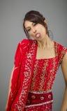 Młoda Indiańska kobieta wtyka out jej jęzor Obrazy Stock