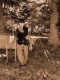 Młoda Jankeska Cywilna wojna Reenactor Obraz Royalty Free