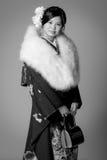 Młoda Japońska dziewczyna w kimonie Fotografia Royalty Free