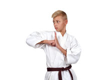 Młoda karate chłopiec Obraz Stock