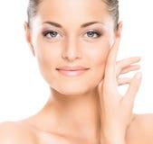 Młoda Kaukaska kobieta w pięknym makeup obrazy royalty free