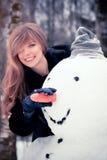Młoda kobieta śmieszny portret zdjęcie royalty free