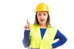 Młoda kobieta architekt ma doskonałego pomysł zdjęcie royalty free